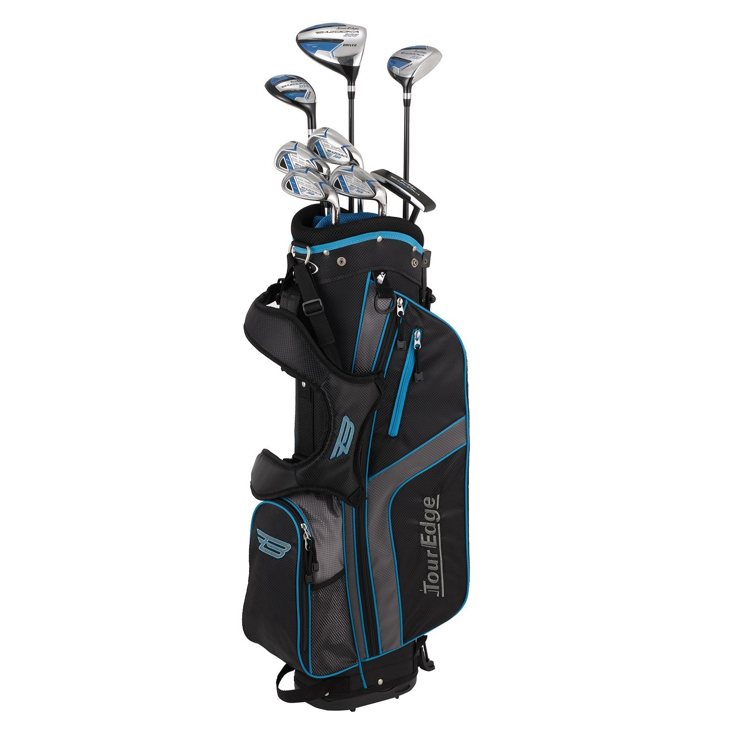 Tour Edge Unisex B3SRGU11.B Bazooka 360 Teen Golf Set Right Hand, Black/Blue by Tour Edge (Image #1)