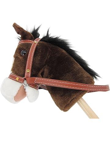 "Sweety Toys 5055 caballo de madera "" My little Pony"" chocolate con sonido"