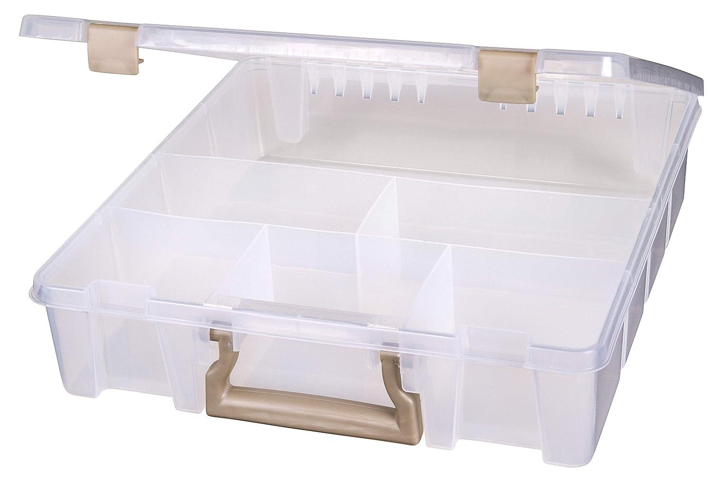 Art Bin Super Satchel con 6 fijo dividido compartimentos, translú cido translúcido Flambeau Inc. 9001AB
