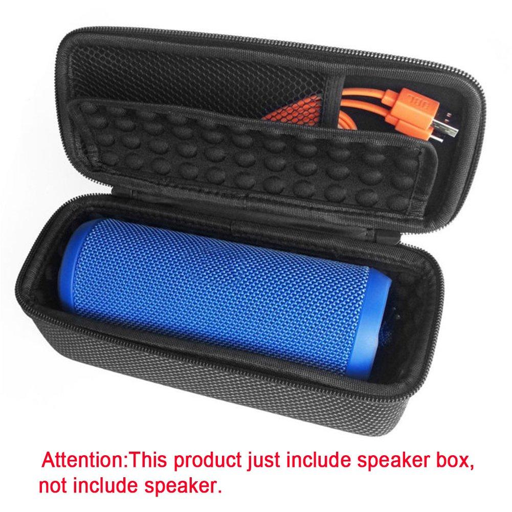 Para JBL Flip 3 funda protectora, altavoz Bluetooth inalá mbrico portá til bolsa de viaje caja de almacenamiento a prueba de golpes de Eva rí gida protectora funda –  Compatible con cable USB Woopower