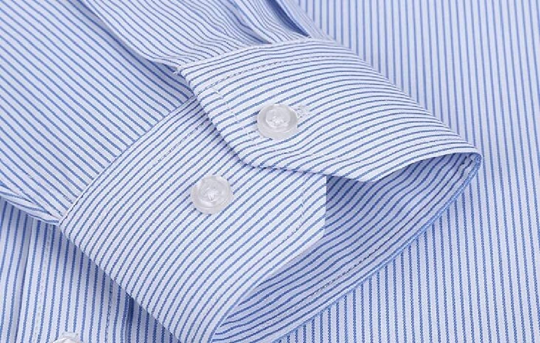 Generic Mens Slim Fit Non-Iron Dress Shirt with Long Sleeve