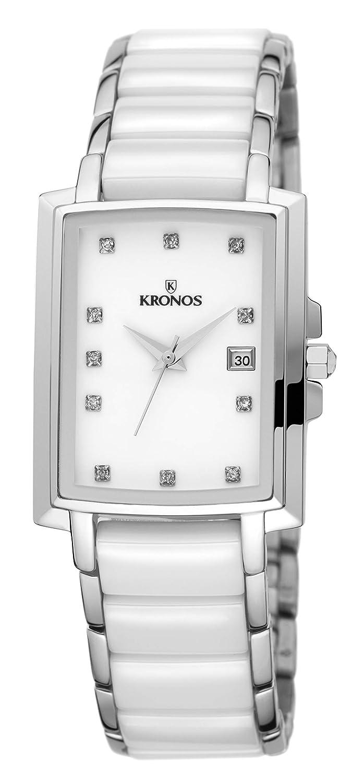 KRONOS - Ceramic White 931.8.32 - Reloj de señora de Cuarzo, Brazalete de cerámica, Color Esfera: Blanca: Amazon.es: Relojes