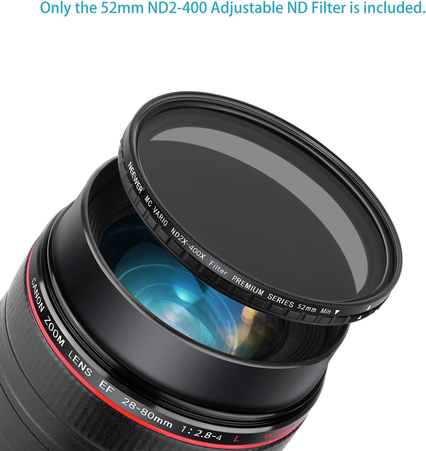 Neewer 52mm Nd2 400 Nd Filter Variable Nd2 Bis Nd400 Kamera