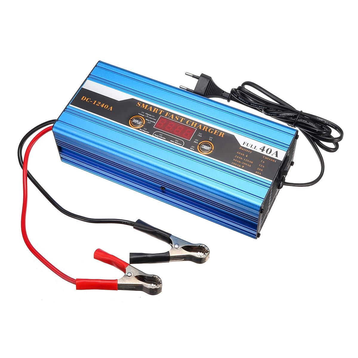 30A C-FUNN Batteria 20A 40A 40A Piombo-Acido 20Ah A 200Ah Caricabatterie Intelligente Multifunzione per Display LCD per Auto Moto