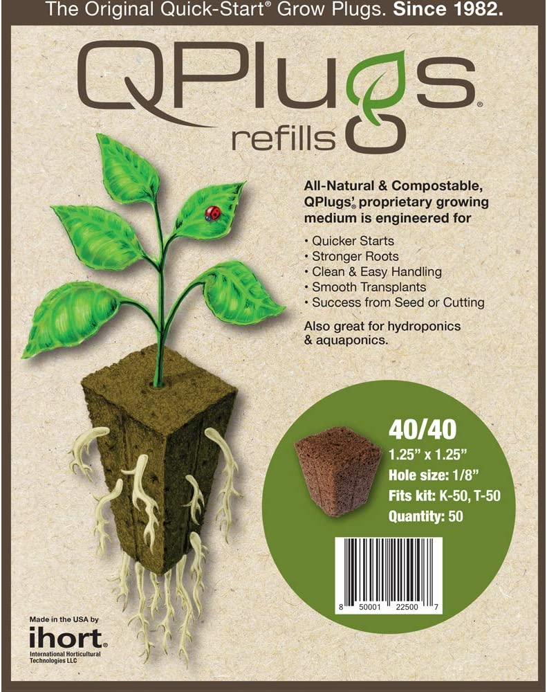 IHORT IHQPC50 Q Plug Cubes, Bag of 50, Brown