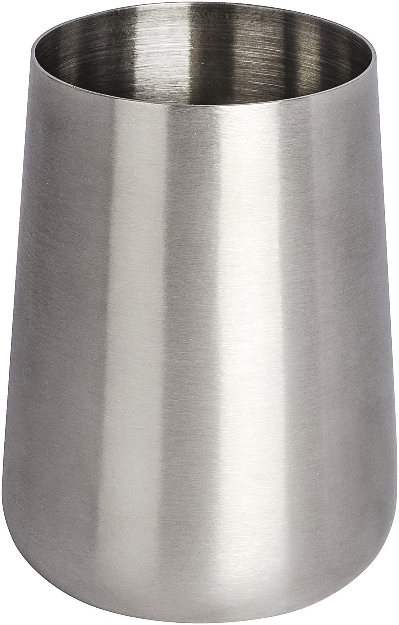 Wenko Tumbler Solid-Holder for Toothbrush and Toothpaste 8 x 8 x 10 cm Silver matt Stainless steel