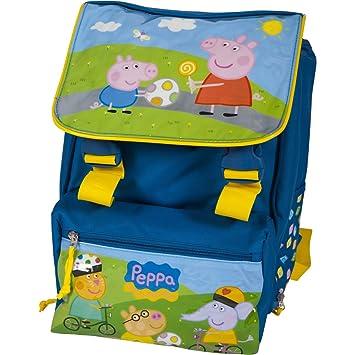 Peppa Pig mochila para la escuela primaria Blu: Amazon.es: Juguetes y juegos