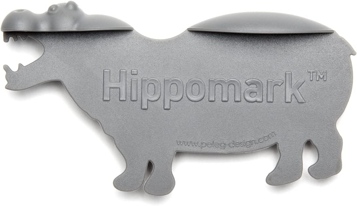 10 cm Peleg Hippomark Organizer borsa Grigio