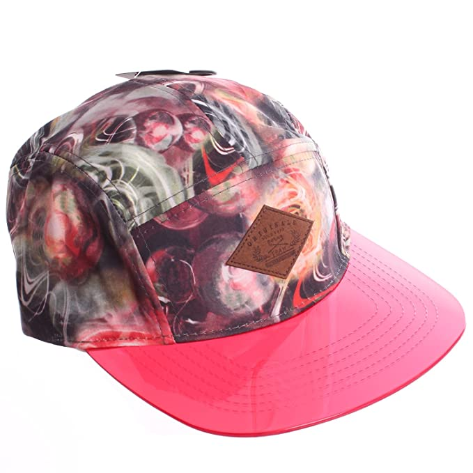 E-Flag Galactic Chaos 5 Panel Strapback Camper Hat With See-Through Bill -  Red Bill at Amazon Men s Clothing store  0f5a9e4e8d5e