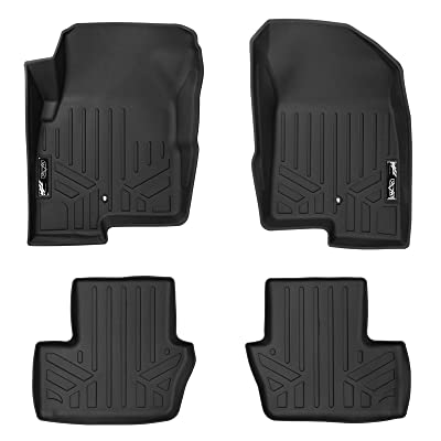 MAXLINER Floor Mats 2 Row Liner Set Black for 2007-2012 Dodge Caliber / 2007-2020 Jeep Patriot/Compass Old Body Style: Automotive