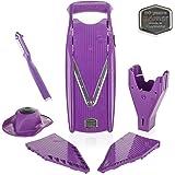 Borner V5 Slicer PowerLine Plus Set (purple) anniversary edition - Straight from the manufacturer! - Vegetable Slicer - Julienne Slicer -Vegetable Cutter - Mandoline Slicer