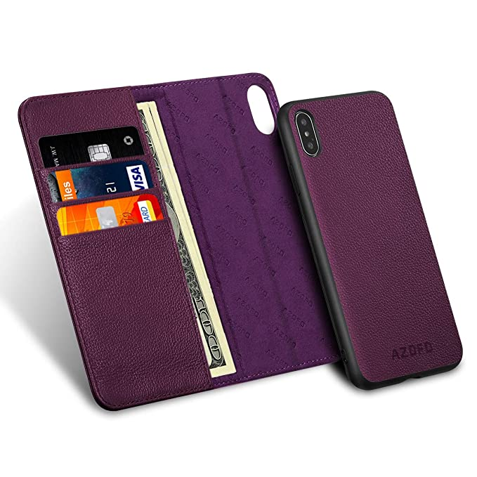 iphone xs max 2 in 1 magnetic case purple