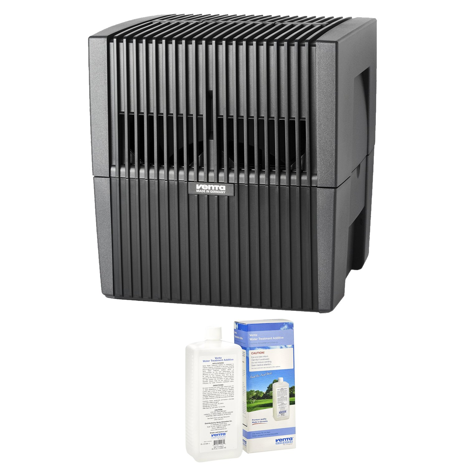 Venta LW25G Humidifier & Airwasher (Gray) with Airwasher Venta Water Treatment