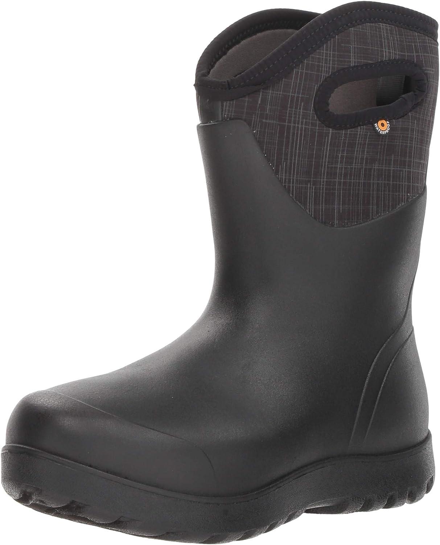 BOGS Women's NEO-Classic Snow Boot, Linen - Black Multi, 7 Medium US