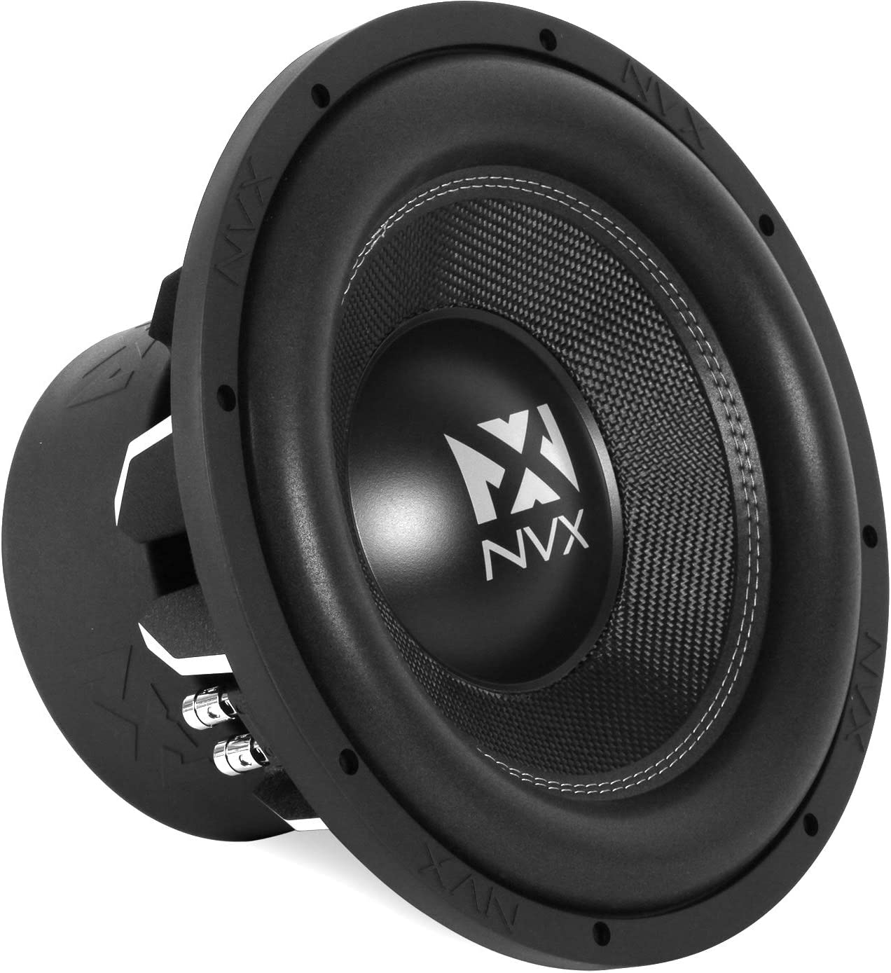 Amazon Com Nvx 12 Inch True 1000 Watt Rms 2000 Watt Peak Dual 4 Ohm Car Subwoofer 3 Dimensional Die Cast Aluminum Basket Vcw124