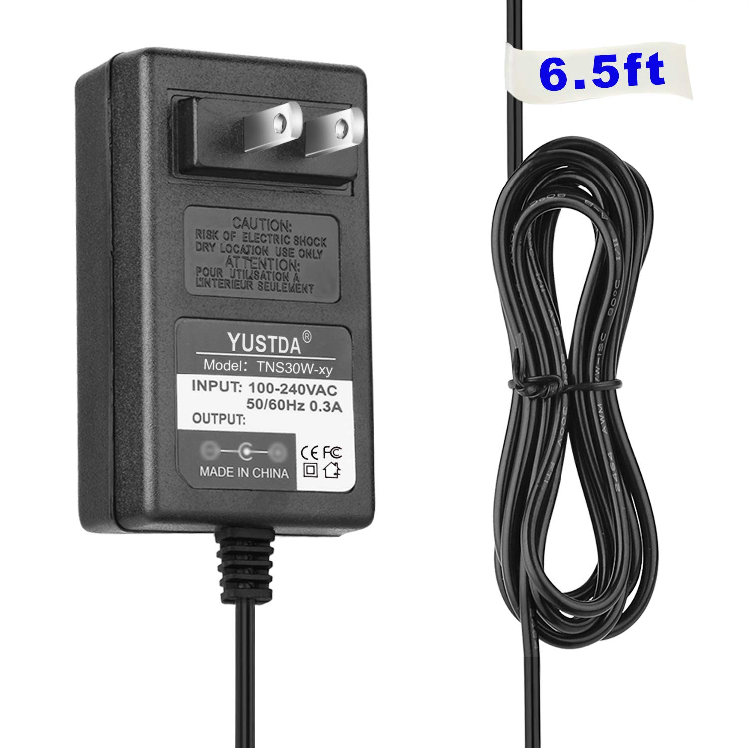 6.5Ft AC/DC Adapter for Tria Hair Removal Laser 4X Device TRIABEAUTY Model: LHR 4.0 TRIA Beauty LHR 3.0 THR-25 Hair Syst TRIA Beauty LHR 3.0 THR-25 Hair System Power Supply Cord Cable Charger