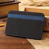 Lovoski Mens PU Leather Magic Bag Money Clip Wallets ID Credit Card Cash Holder