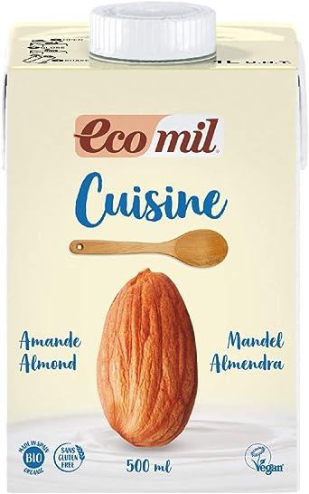 Ecomil Cusine Almond Bio 500 ml. Crema de almendra bio para ...