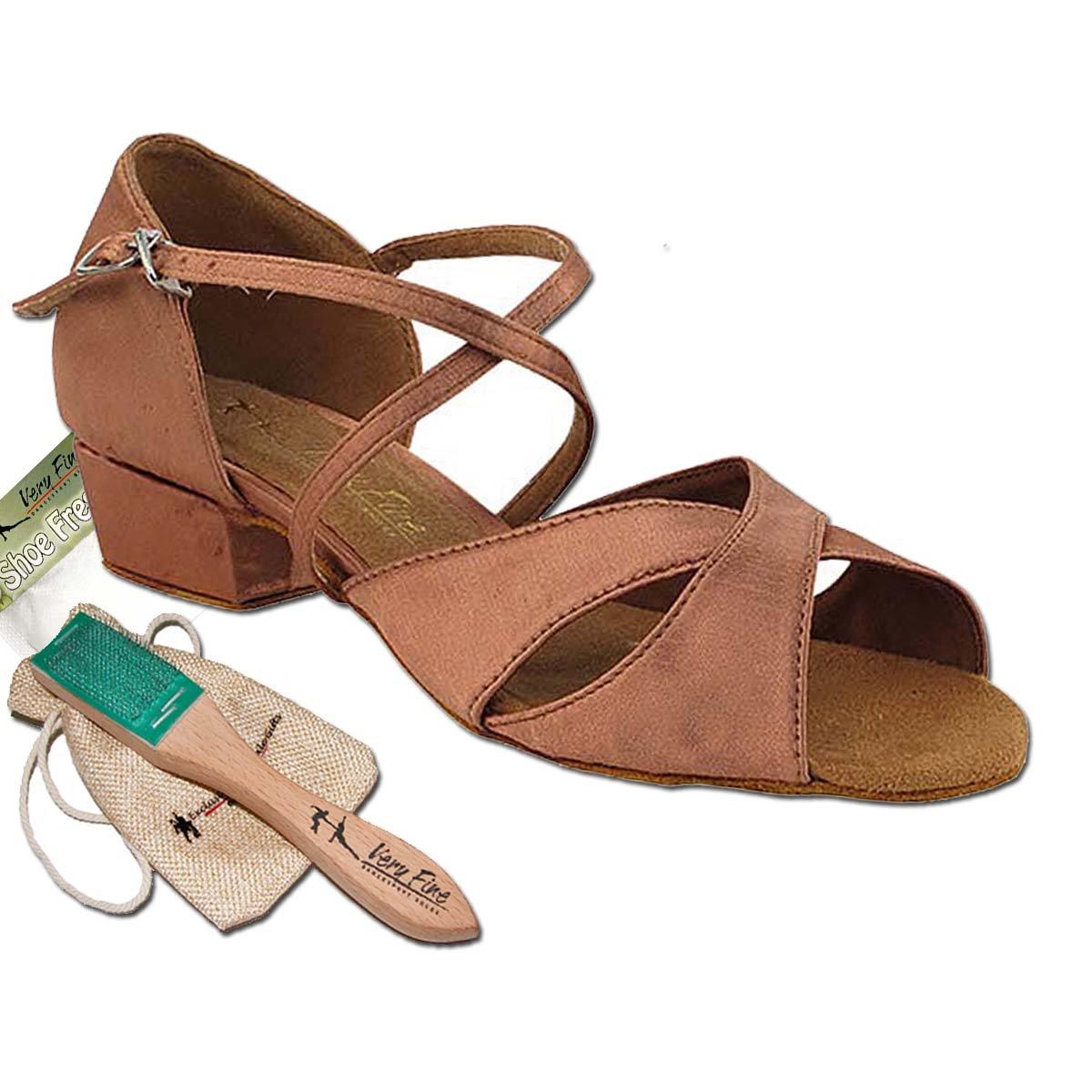 [Very Fine Dance Shoes] レディース B0728P68Y8 タン サテン 6.5 (B,M) US