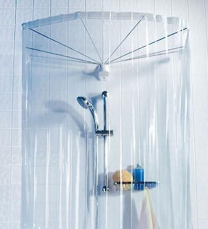Modello Ombrella Bianco Tenda da Doccia a raggiera RIDDER