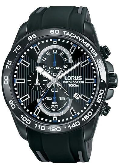 LORUS Reloj Cronógrafo para Hombre de Cuarzo con Correa en Caucho RM385CX9: Amazon.es: Relojes