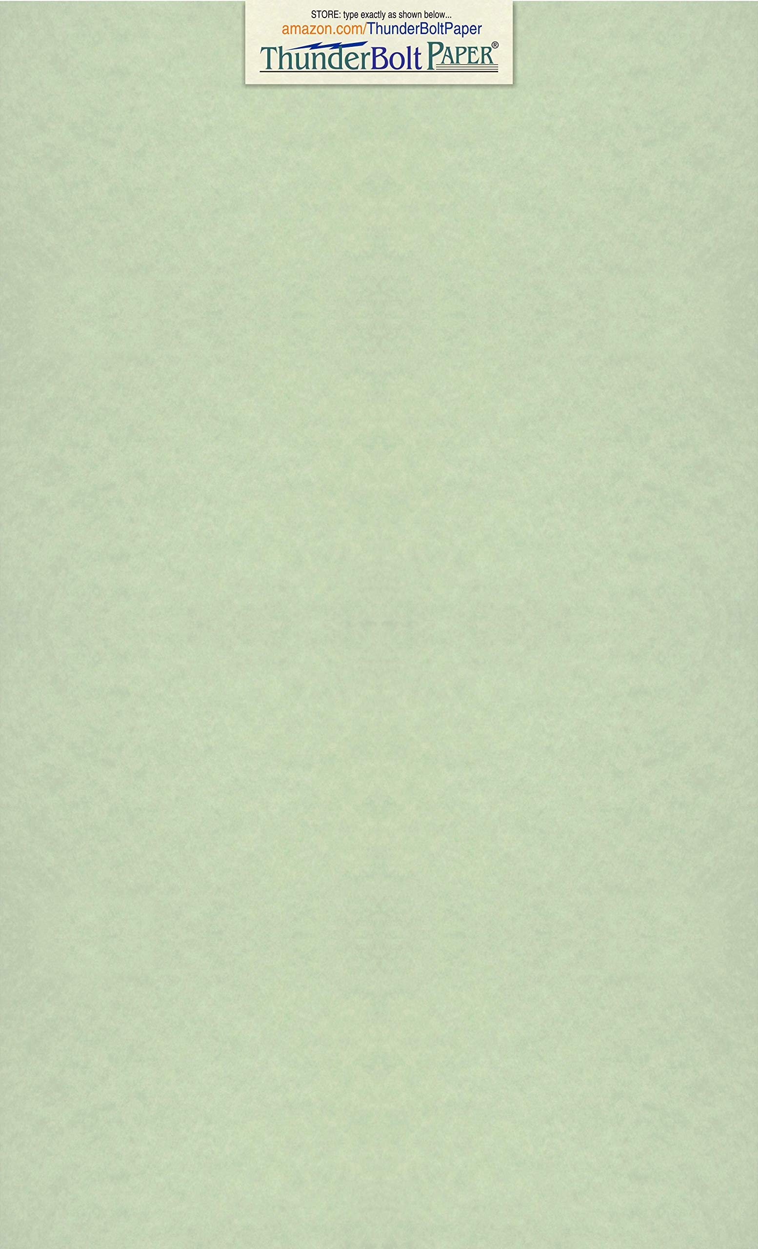 100 Green Parchment 65lb Cover Weight Paper 8.5 X 14 inches Cardstock Colored Sheets Legal Size -Printable Old Parchment Semblance by ThunderBolt Paper