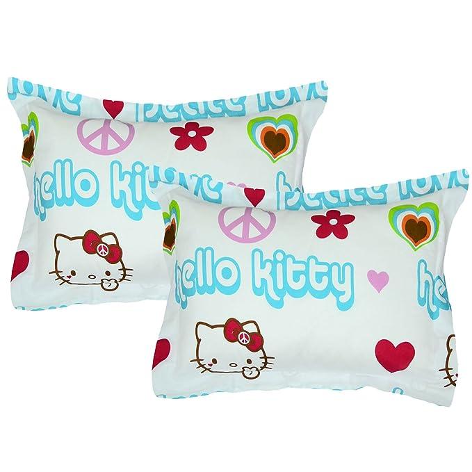 Amazon.com: 2 piezas fundas de almohada hello kitty Juego ...