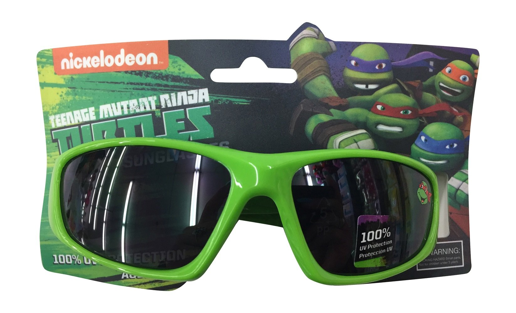 Nickelodeon Ninja Turtles Boys Lime Sunglasses - 100% UVA & UVB Protection