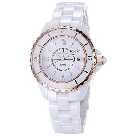 Amazon.com: Reloj de cuarzo para mujer Nakzen, relojes ...