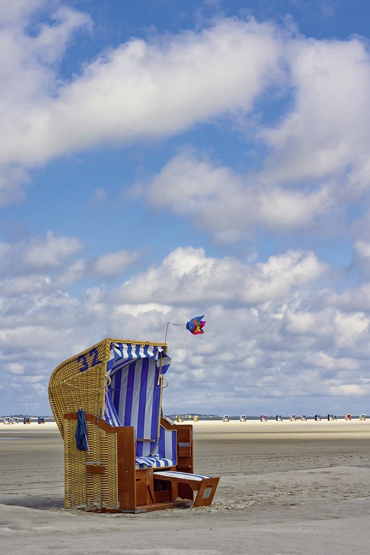 Artland Qualitätsbilder I Bild auf Leinwand Leinwandbilder Wandbilder 40 x C7HG 60 cm Landschaften Strand Foto Blau C7HG x Strandkorb 32 df8e76