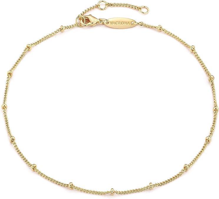 Gold Beaded anklet Gold Anklet Boho Gold ankle bracelet Gold Chain Ankle Bracelet Coin Anklet Serenity Project Gold Anklets for Women