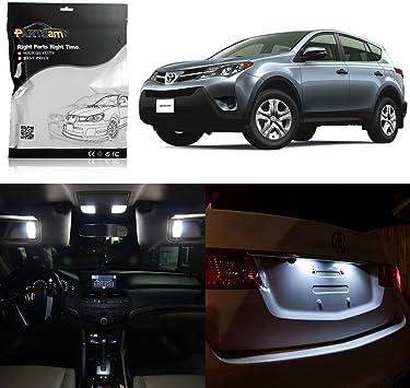 8pcs 6000K White Interior LED Light Package Kit For 2016 2017 2018 Toyota Rav4
