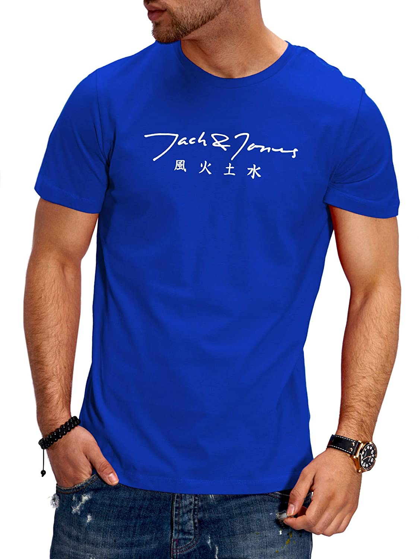 JACK /& JONES T-Shirt da Uomo Maglietta Manica Corta Shirt Top Tee Stampa Streetwear