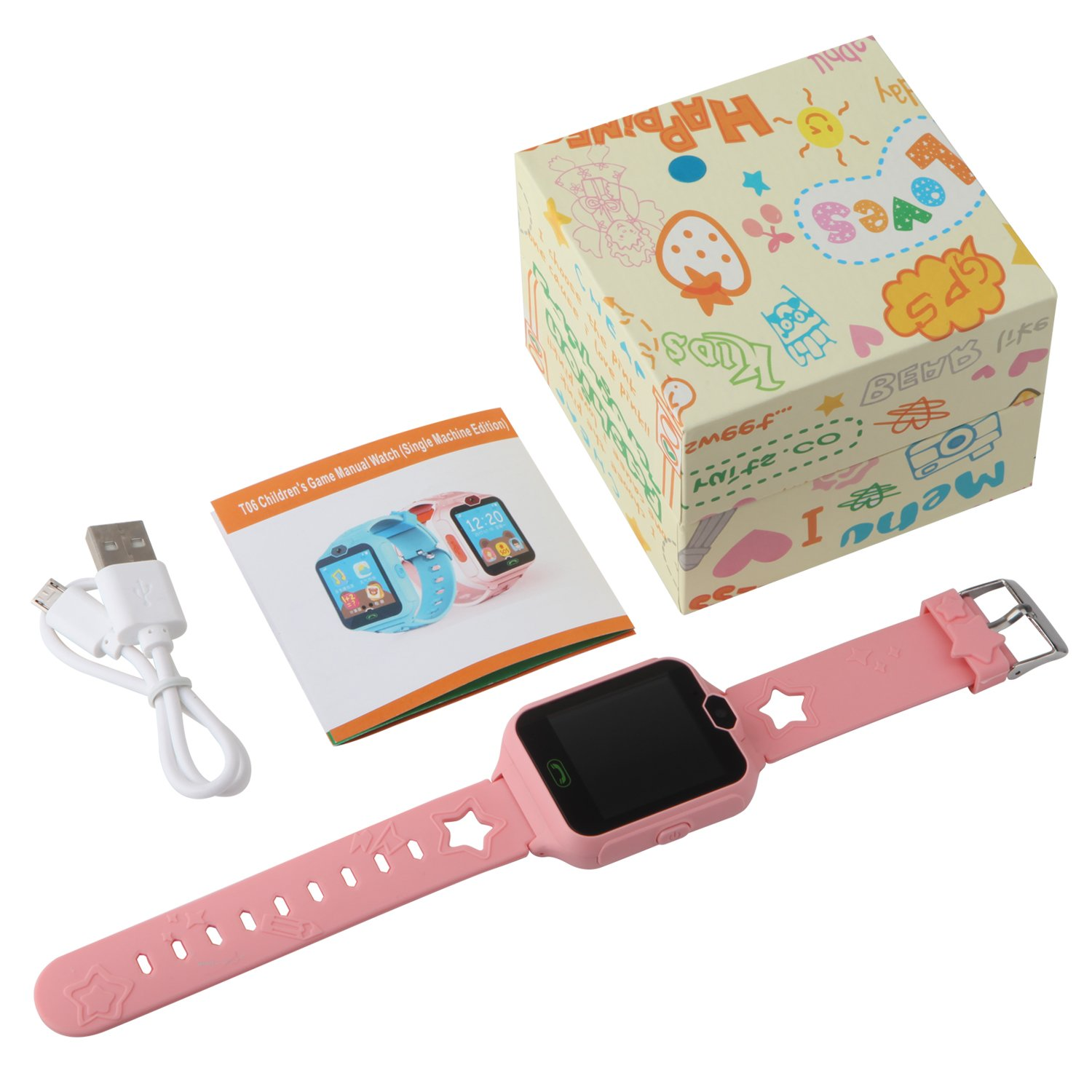 HSX_Z Phone Watch for Kids Smart Watch for Kids with Digital Camera Touch Screen, Phone Game Cool Toys Watch Gifts for Girls Boys Children Birthday Gifts Watch£­Pink by HSX_Z (Image #7)
