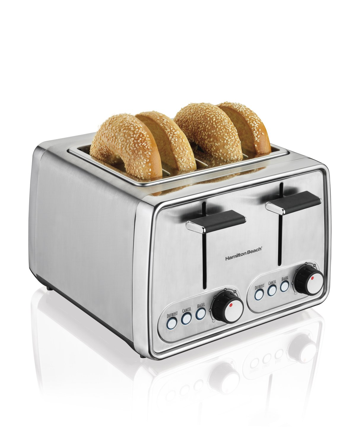 Amazon.com: Hamilton Beach Modern Chrome 4-Slice Toaster (24791 ...