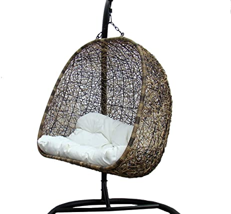 Tri Color Double Seater Outdoor Corina Wicker Swing Chair   Model U2013 9103AB