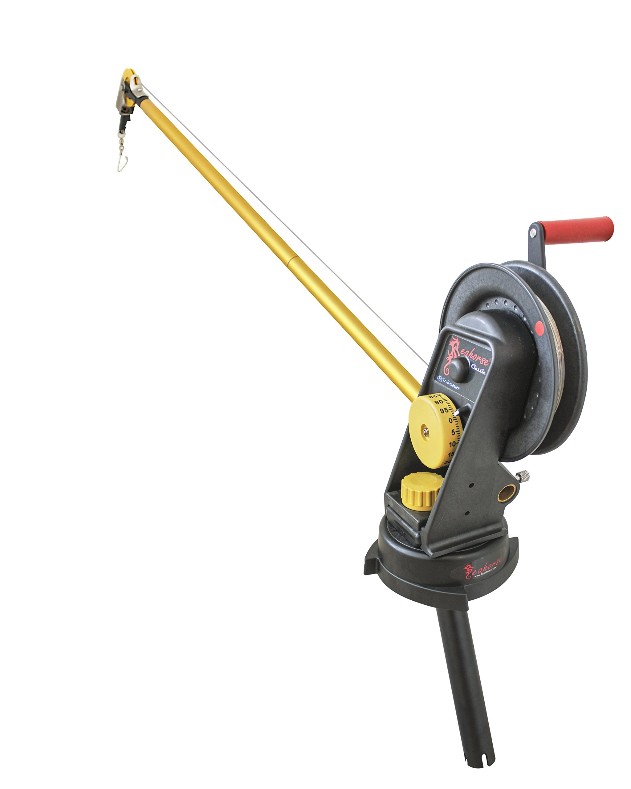 Seahorse Downrigger with Extended Boom, Swivel Base and Gimbal By Troll-master by Seahorse