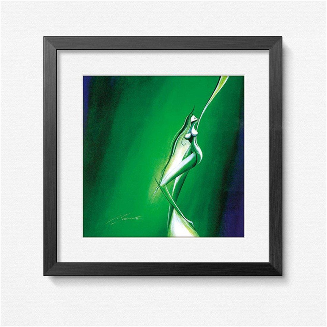 HONGLIbelleza Pintura Decorativa Abstracta Arte Corporal Pintura de Marco de Cuatro Colores Sala de Estar Dormitorio Comedor Pintura de la Oficina Pinturas de la Pared (43  43 cm), a