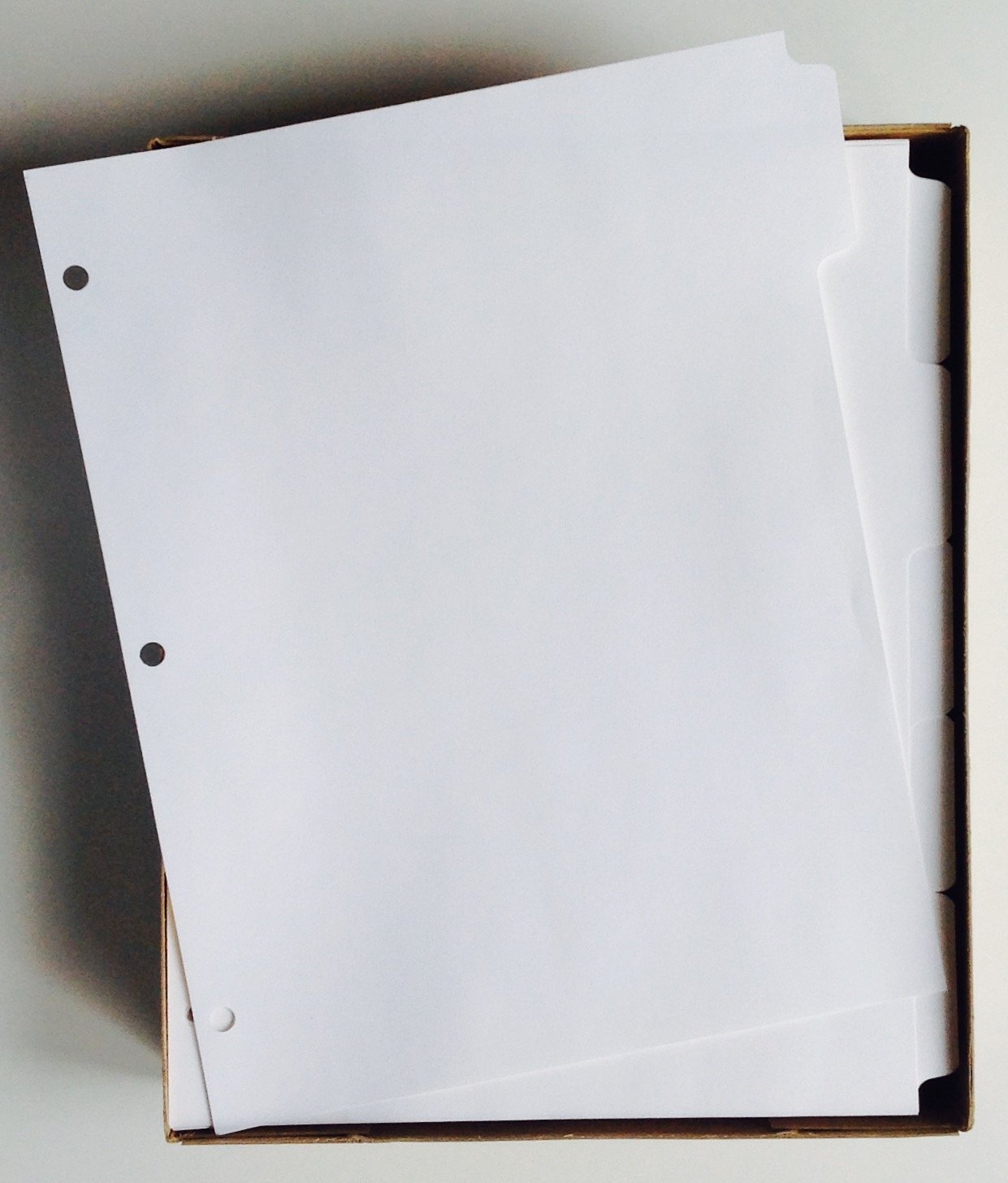 KLEER-FAX (88914) 5-Tab White Ring-Book Index Divider Sheets, 8.5'' x 11'' - Box of 50 Sets by Kleer Fax