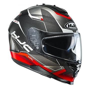 HJC Helmets Casco Moto Hjc Is-17 Loktar Rojo (L, Gris)