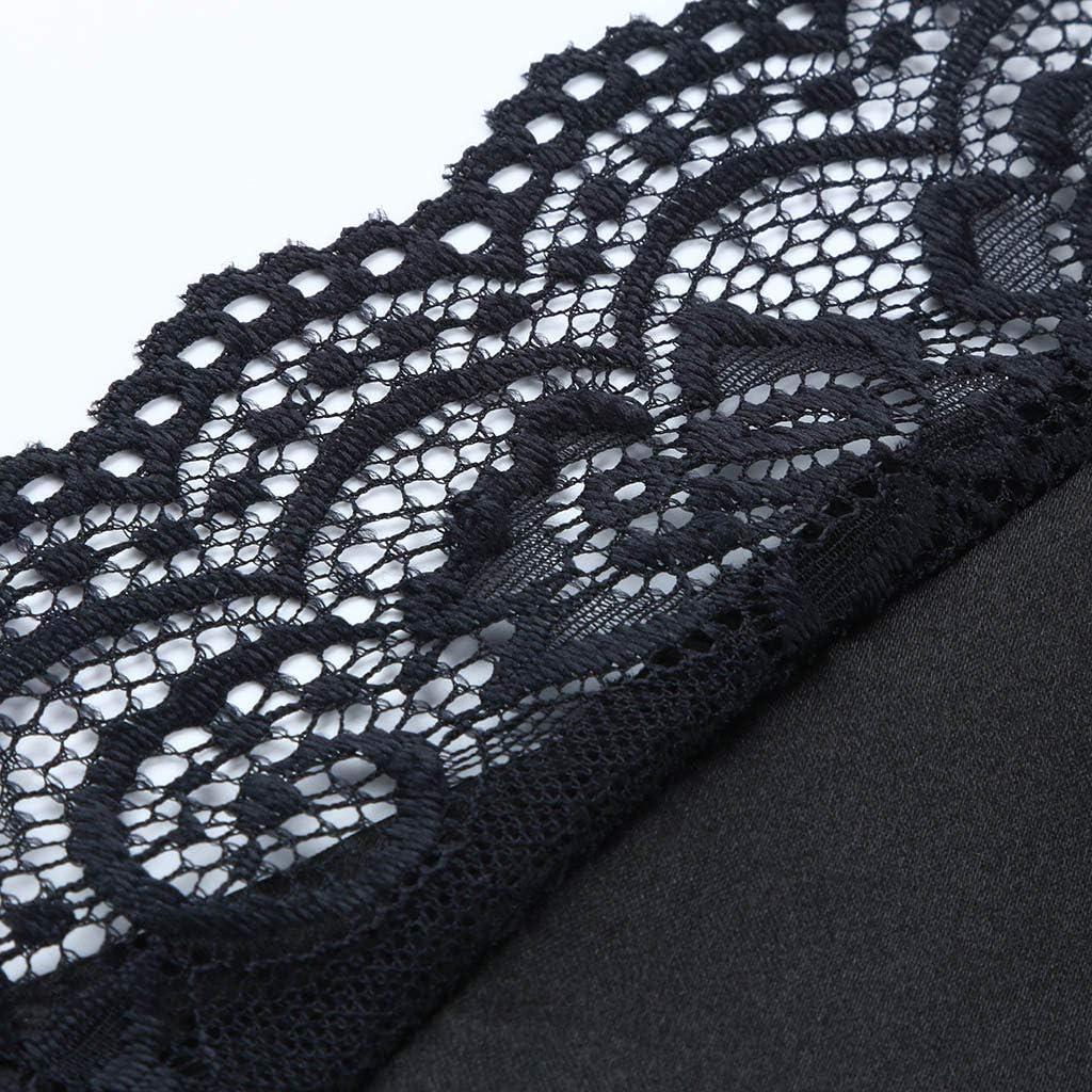 iLPM5 Damen Casual V-Ausschnitt /Ärmellos Plus Size Solide Lace Tank Tops Weste Blusen