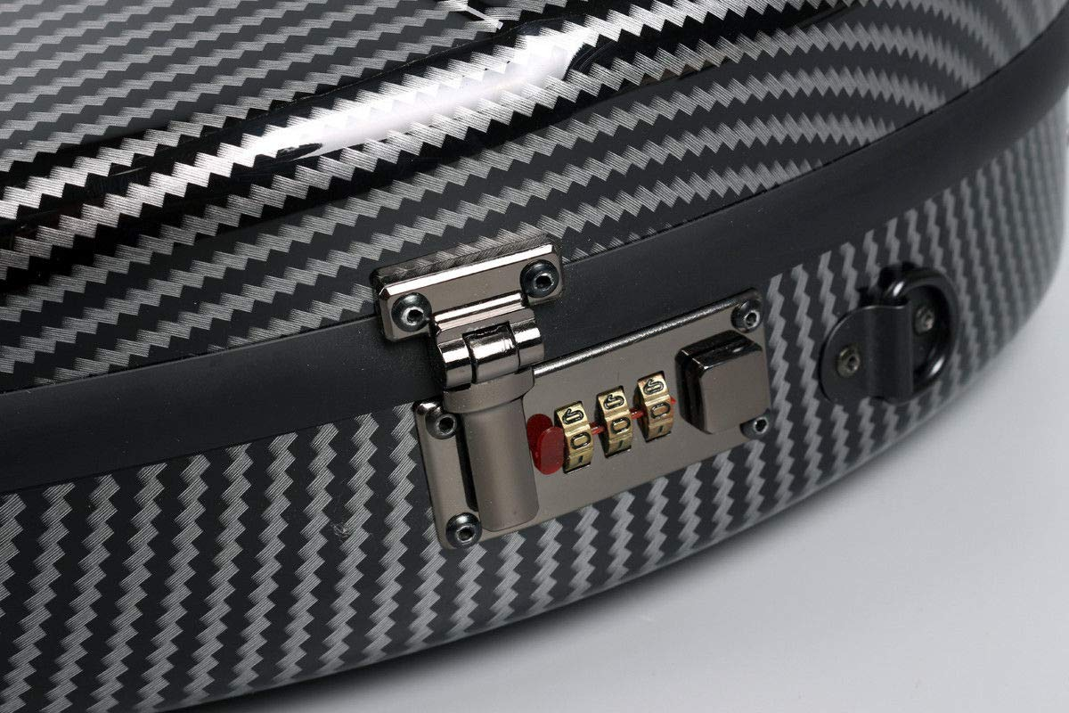 Yinfente 4//4 violin Case Mixed Carbon fiber Violin Box Strong Light With Password Lock 1.9kg weight 5 colors white