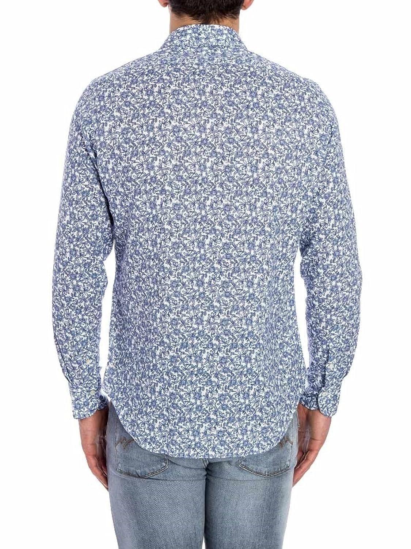 Finamore Herren Langarmshirt blau himmelblau X-Large: Amazon.de: Bekleidung