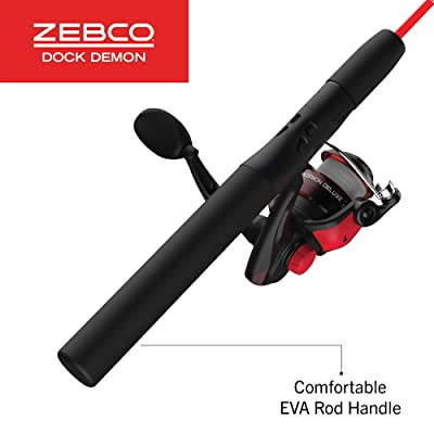 Zebco Dock Demon Spinning Reel or Spincast Reel and Fishing Rod Combo