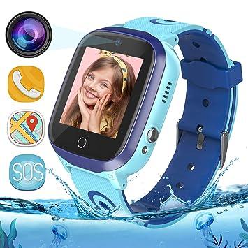 MeritSoar Tech Reloj Inteligente Smartwatch para Niños - WiFi + GPS + LBS Rastreador Smartwatch con Contador de Pasos GAO Fence Calling SOS Juego de ...
