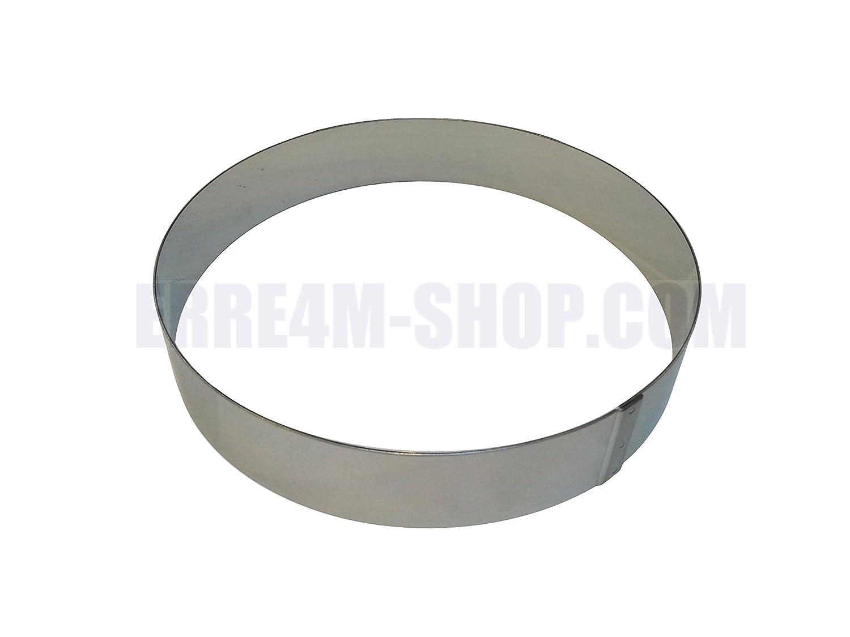 Anello per torte circolare in acciaio inox ø 32x4(h.) cm. professionale Erre4m