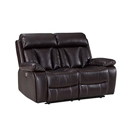 Power Recliner Sofa With USB Charging Port, Adjustable Headrest Deluxe  Living Room Electric Lounge Chair