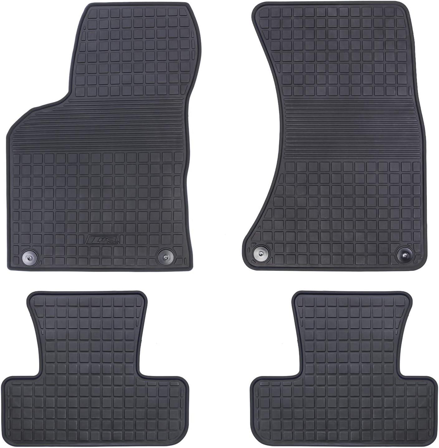 HD-Mart Car Floor Mat Rubber for Audi Q5 2018 2019 2020 Custom Fit Full Black Auto Floor Mats All Weather Heavy Duty /& Odorless