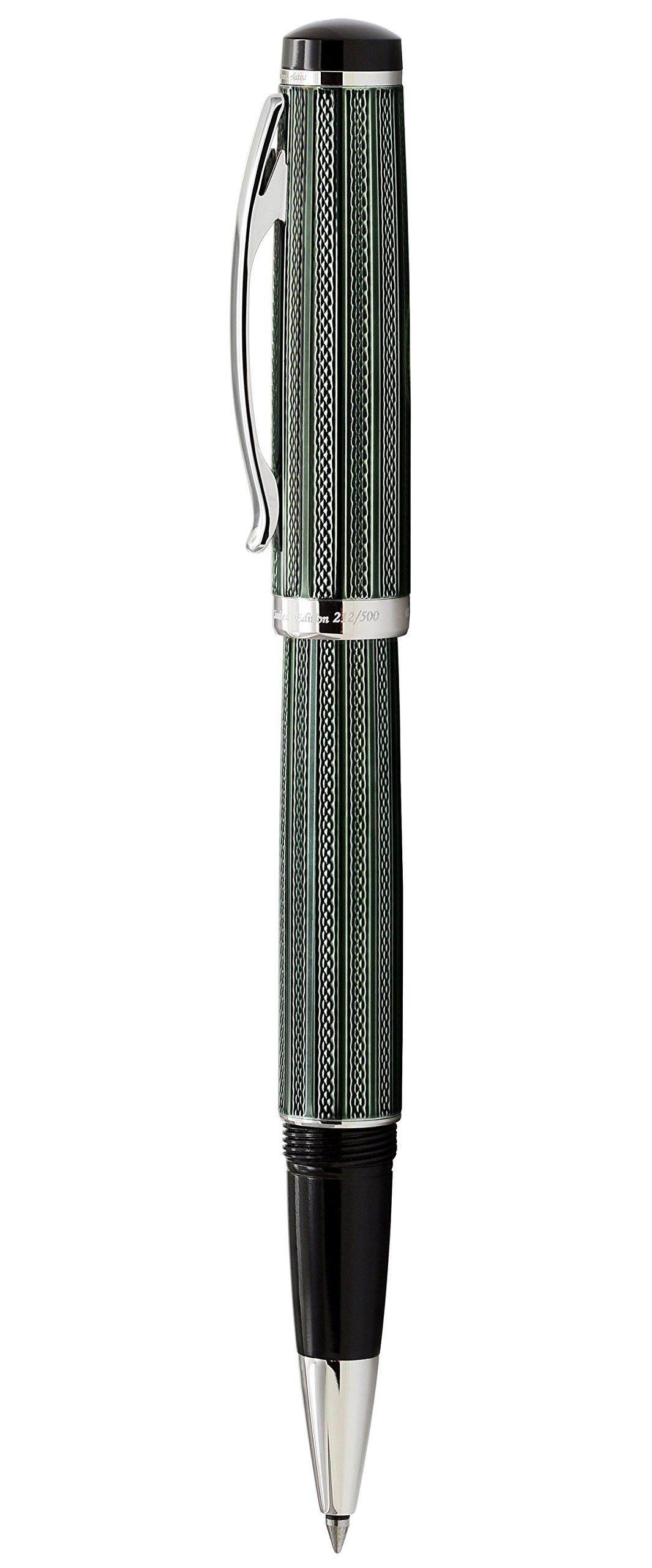 Xezo Diamond Cut Gel Ink Rollerball Pen (Incognito Zinc R) by Xezo (Image #2)