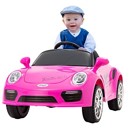 Electric Vehicles For Kids >> Uenjoy Kids Ride On Cars 6v Battery Power Kids Electric Vehicles With Wheels Suspension Music Remote Control Headlights And Horn Pink